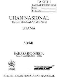 Download Soal UN (Ujian Nasional) / US (Ujian Sekolah) SD/MI 9 Tahun Terakhir