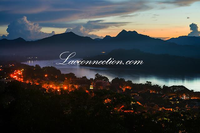 Luangprabang at dusk