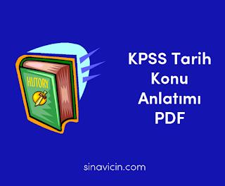 2018 kpss tarih konu anlatımı pdf