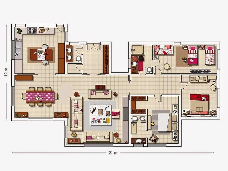 plan amenajare casa rustica