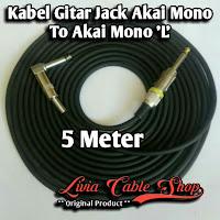 Kabel Gitar Jack Akai Mono To Akai Mono 'L'