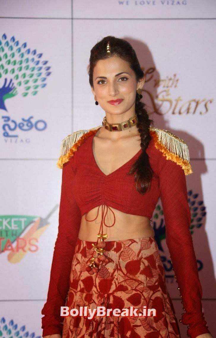 Telugu Actress Shilpa Reddy, Shilpa Reddy Navel Pics in Red Hot Dress