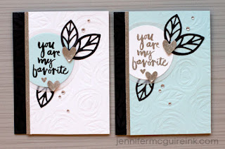 Dry Embossing with dies - video - Jennifer McGuire