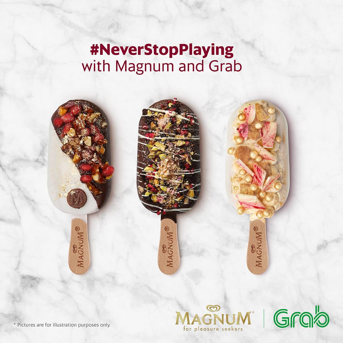 Grab 3 Magnum Red Velvet Ice Cream Rm30 Using Grabpay Klang Valley 10am 5pm Until 9 May 2017