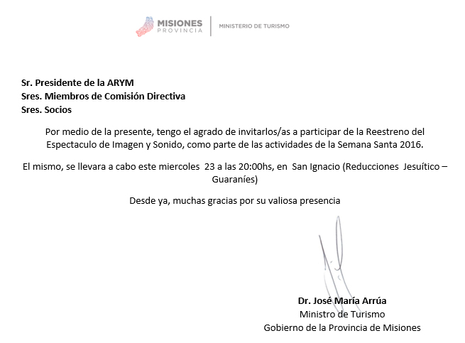 Noticias De La Ruta De La Yerba Mate Invitaci N Del Mtro