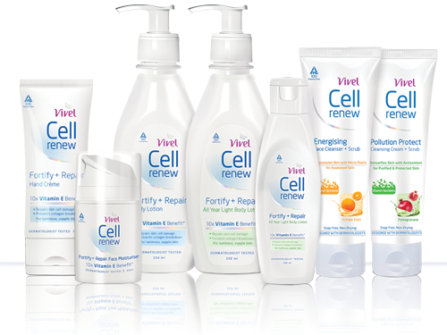 Free sample of Cell Renew body lotion