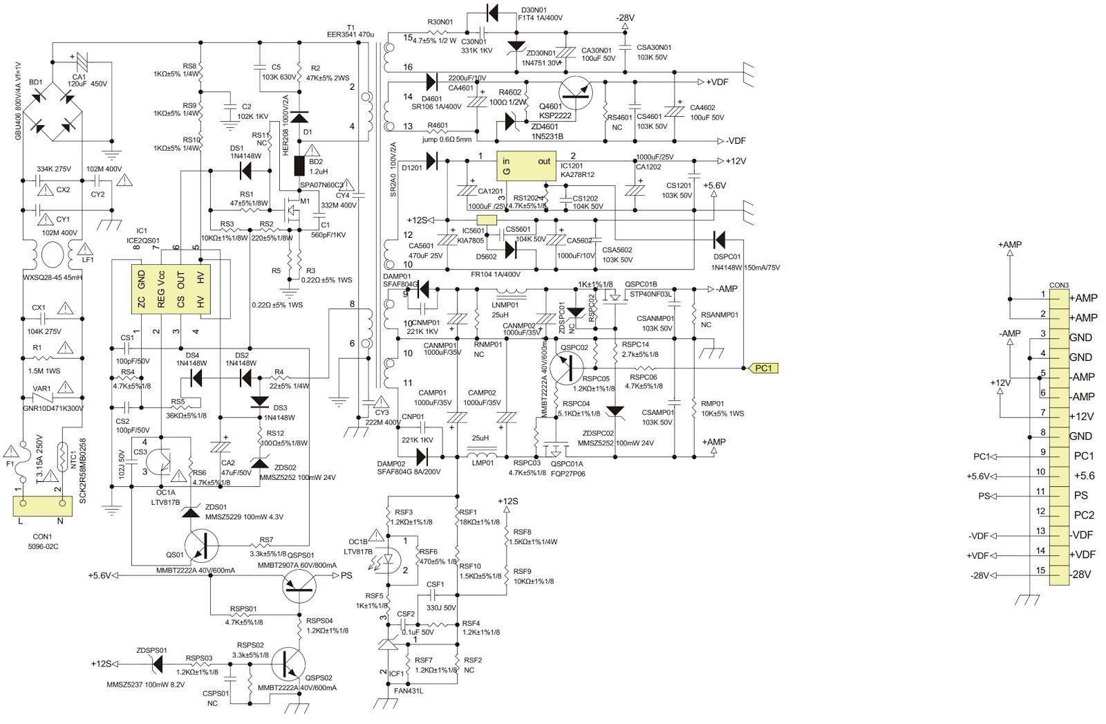 main pcb schematic diagram