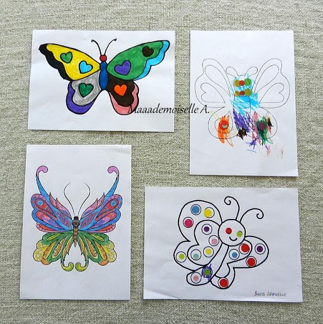 || Nos activités sur les papillons : Coloriages, mandala, gommettes