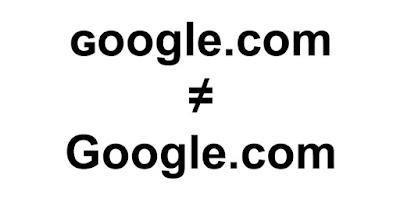ɢoogle.com ليس هو Google.com حداري