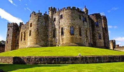 Alnwick kastély, ahol a Harry Potter-t is forgatták