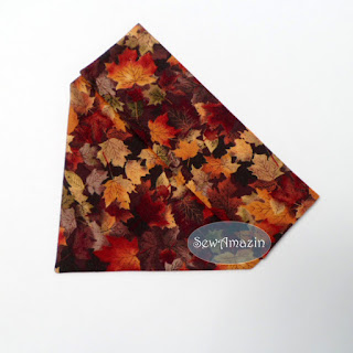 Autumn Dog Bandana, over the collar, Maple Leaves