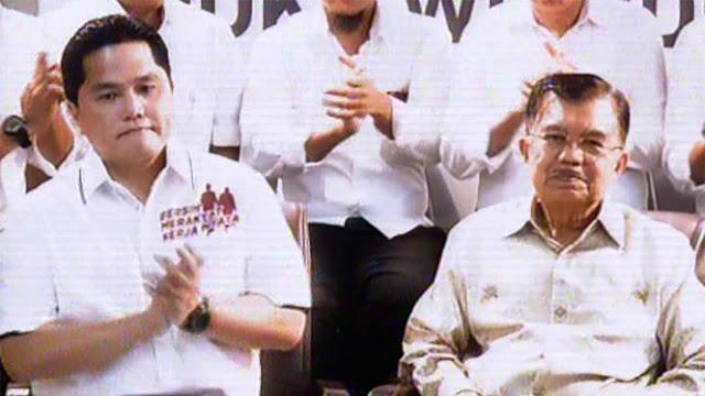 JK Temani Erick Thohir yang Didapuk Jadi Ketua Timses Jokowi