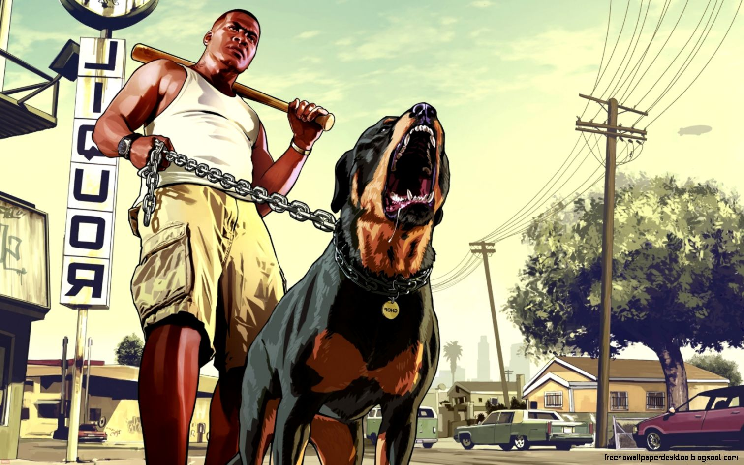 Gta 5 with dog wallpaper hd free high definition wallpapers - Gta v wallpaper ...