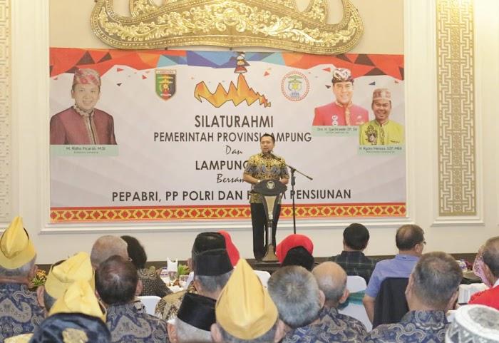 Gubernur Ridho, Lampung Sai, dan Veteran TNI-Polri Sepakat Jaga Lampung