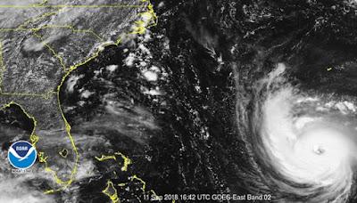Furação Florence nos EUA pode atingir 12 usinas no cleares - Veja o qual é o causador do furação Florence!