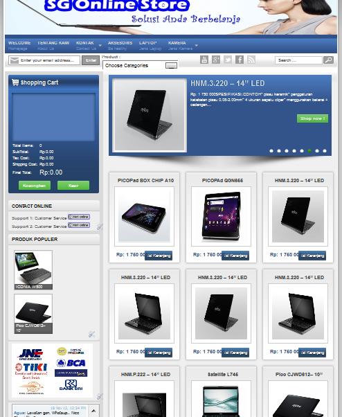 blogger online store