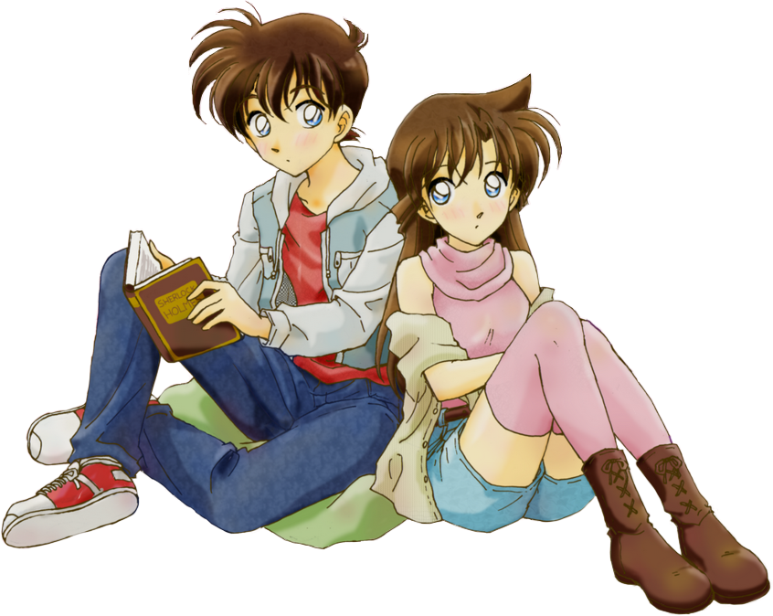 render  Shinichi (Bobby Jackson) , Ran (Claudia)
