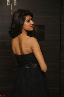 Shalu Chourasiya in spicy Sleeveless Strapless Black Top at O Pilla Nee Valla Movie Audio Launch Feb 2017 050.JPG