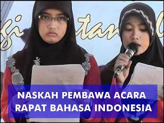 Contoh Naskah Pembawa Acara Mc Rapat Bahasa Indonesia