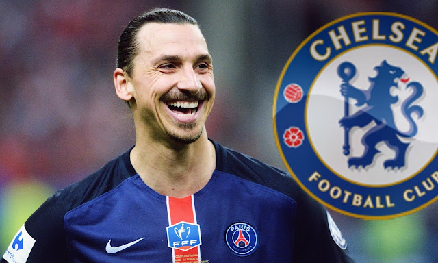 Ibrahimovic poderá jogar no Chelsea, na próxima temporada