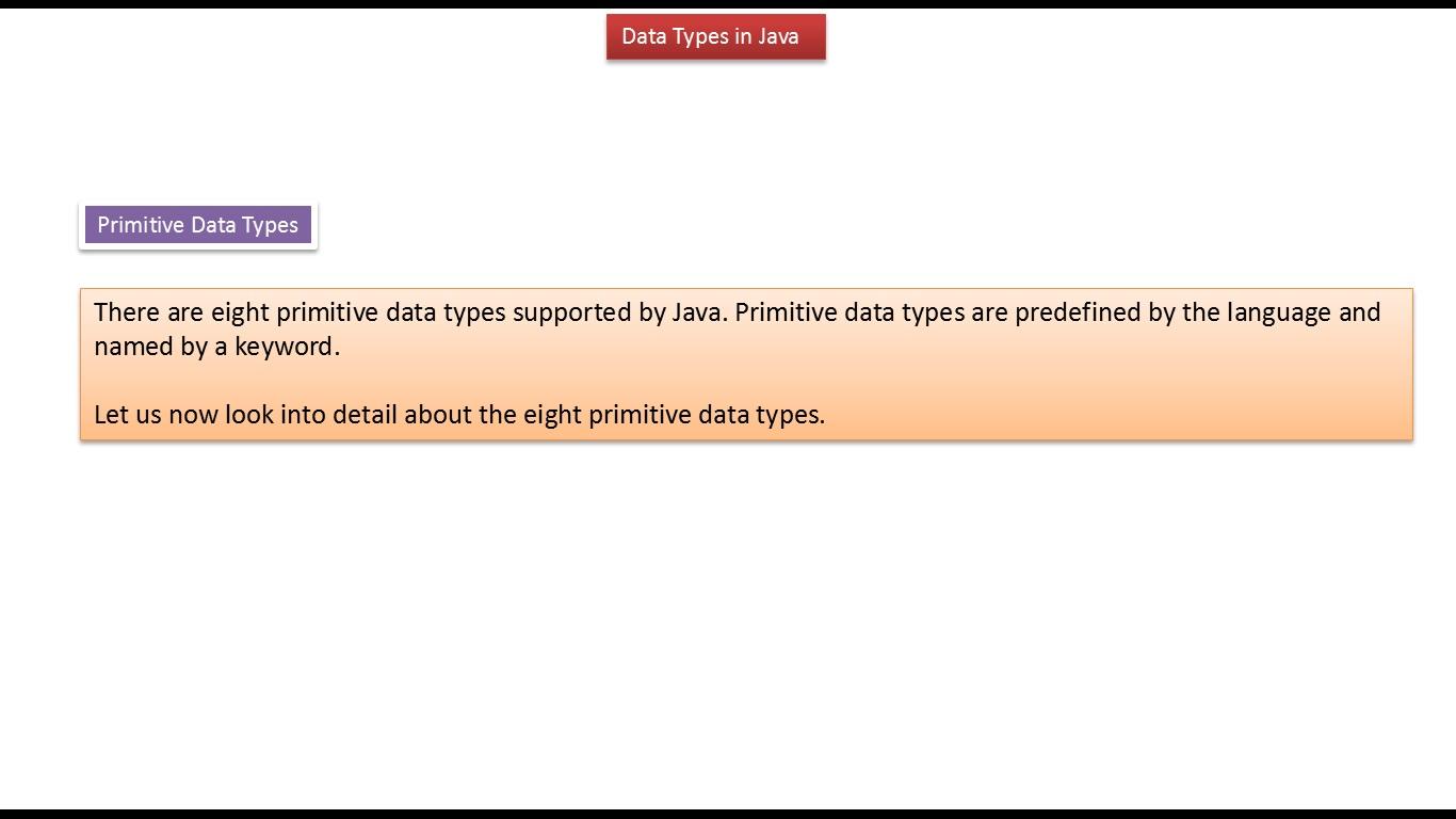 Java ee java tutorial java data types primitive and non primitive java tutorial java data types primitive and non primitive baditri Gallery
