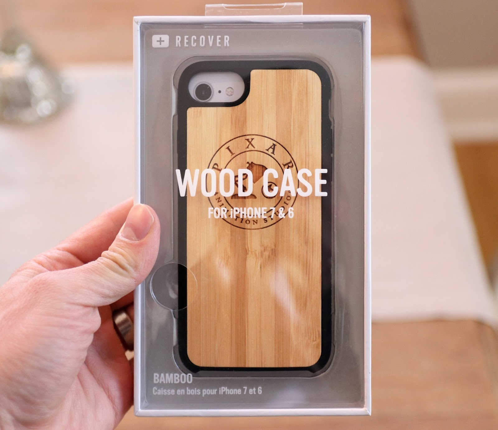 pixar animation studios bamboo wood iphone case