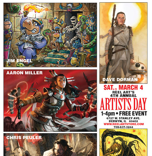 Come See Chad Savage as Part of Reel Art's 4th Annual Artists Day in Berwyn, IL, March 4th!