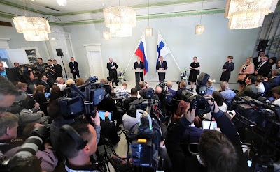 Joint news conference with President of Finland Sauli Niinisto.
