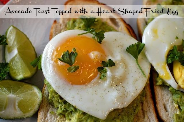Avocado Toast with a heart shaped egg breakfast recipe