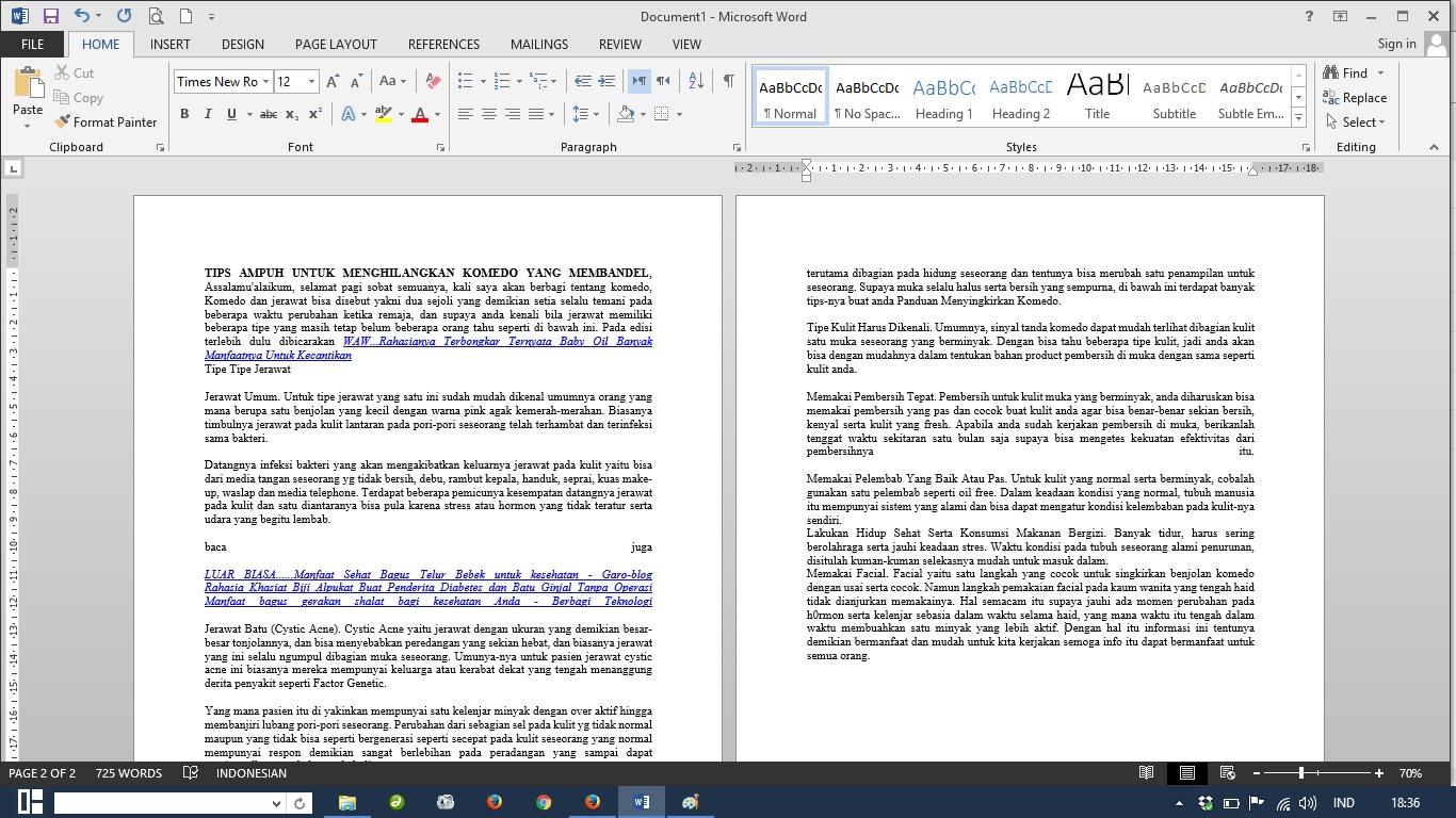 Cara Mudah Membuat kolom Koran di Microsoft Word 2013 - garo-Blog ...