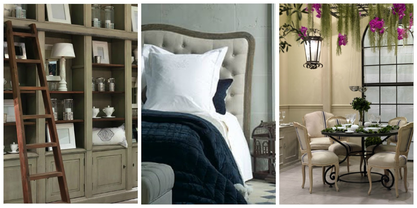 il giardino di fasti floreali la casa arredata secondo blanc d 39 ivoire. Black Bedroom Furniture Sets. Home Design Ideas