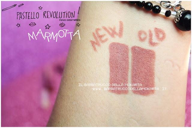 marmotta comparazioni BioPastello labbra Neve Cosmetics  pastello revolution