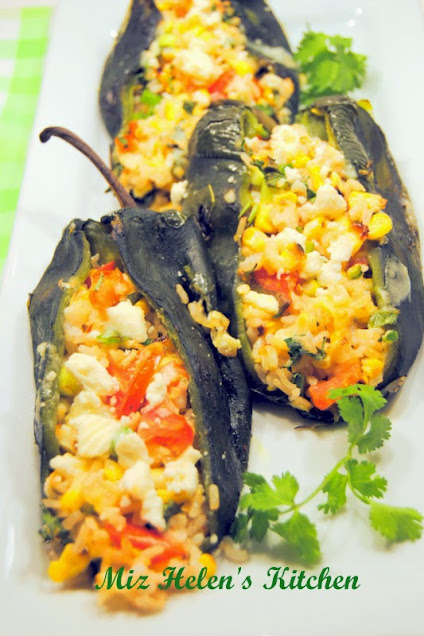 Stuffed Poblanos at Miz Helen's Country Cottage