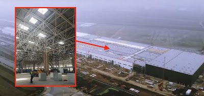 Tesla's Gigafactory 3 with leaked pictures