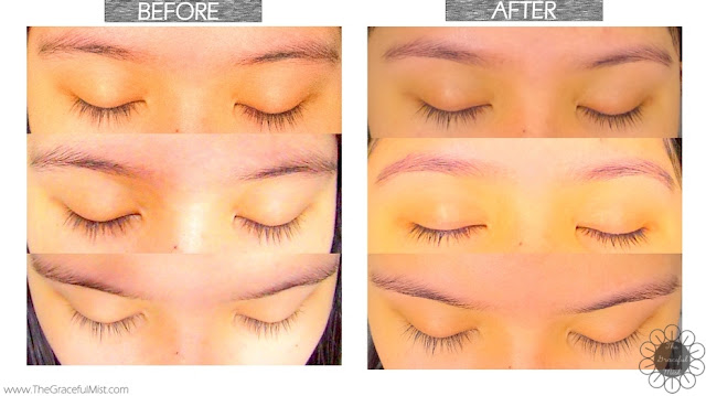 Browhaus Manila: The Brow Salon Experience - Before and After Photo (Review at http://www.thegracefulmist.com/)