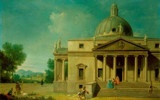 Visentini's capriccio of Mereworth Castle in Kent