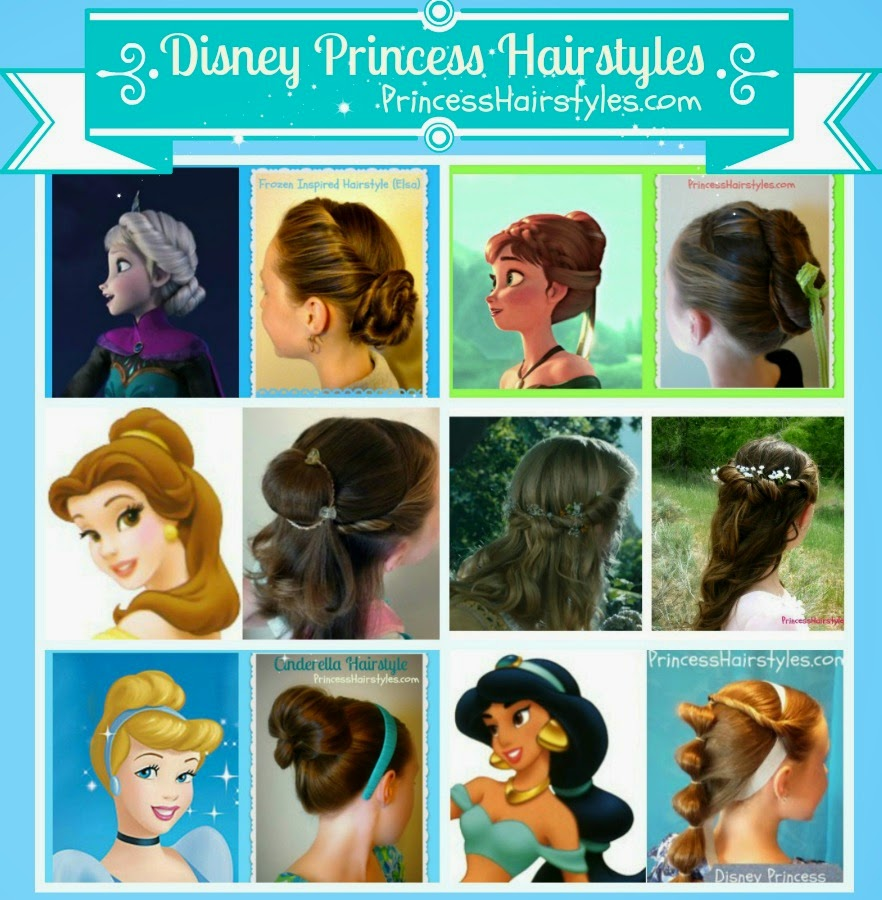 6 disney princess hairstyles and tutorials | hairstyles for
