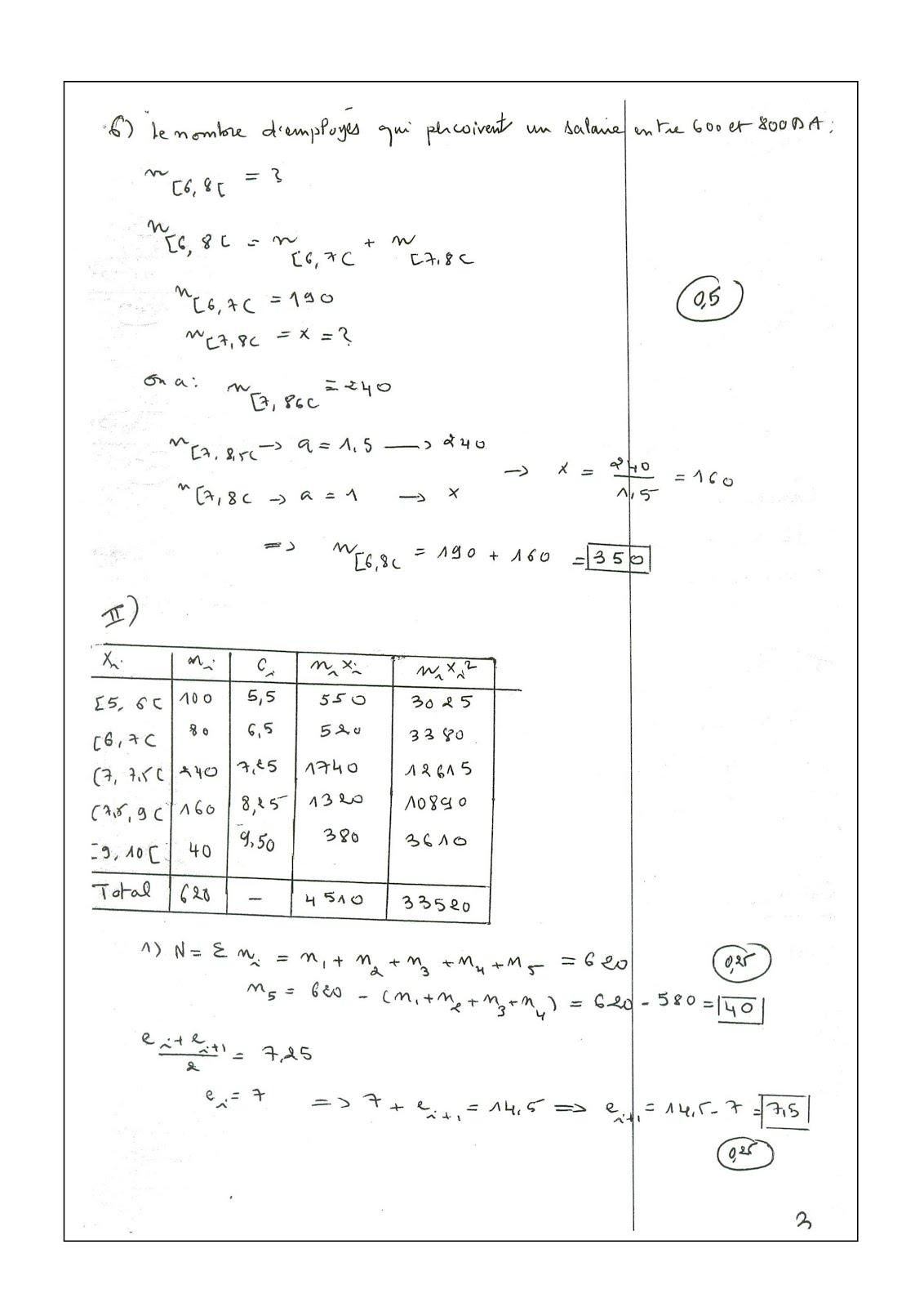 Examen De Statistique Descriptive S1 Fsjes Cours Fsjes