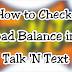 Talk N Text Balance inquiry