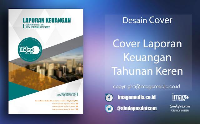 Download Template Desain Cover Laporan Keuangan Tahunan Keren Artistik
