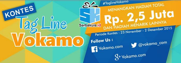 Kontes Tagline Vokamo Berhadiah Total 2,5 Juta