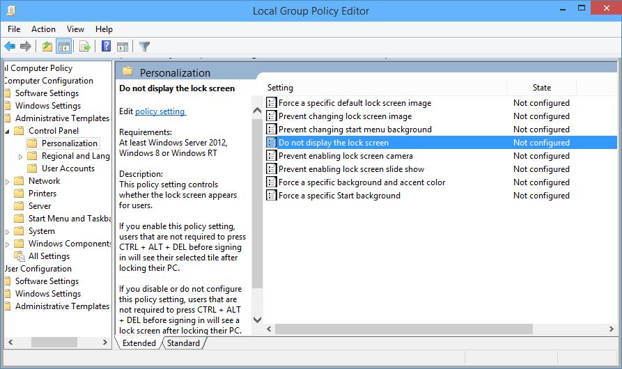 How To Disable Windows 10 Lock Screen Windows Blue Full Windows 10 Download Windows 10 Beta