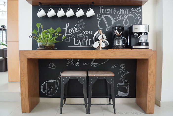 Before and after coffe bar tr s studio blog de - Como decorar un bar pequeno ...