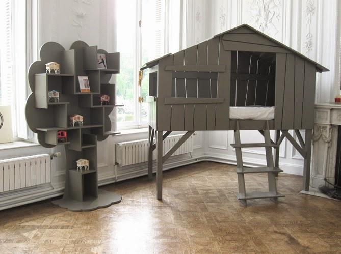 d coration de chambres d 39 enfants une cabane dans la chambre. Black Bedroom Furniture Sets. Home Design Ideas