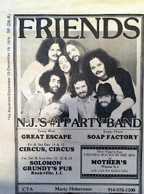 Friends Aquarian club lineup ad Dec 1979
