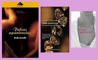 portadas del libro Falsas apariencias, de Noelia Amarillo