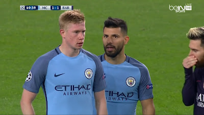 UEFA-Group-C-4 Man City 3 VS 1 Barcelona 01-11-2016