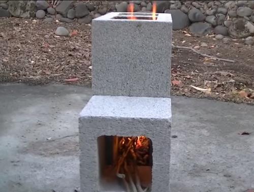 SurvivalGearup: DIY Cinder Block Rocket Stove for under $8 on Cinder Block Fireplace Diy id=89516