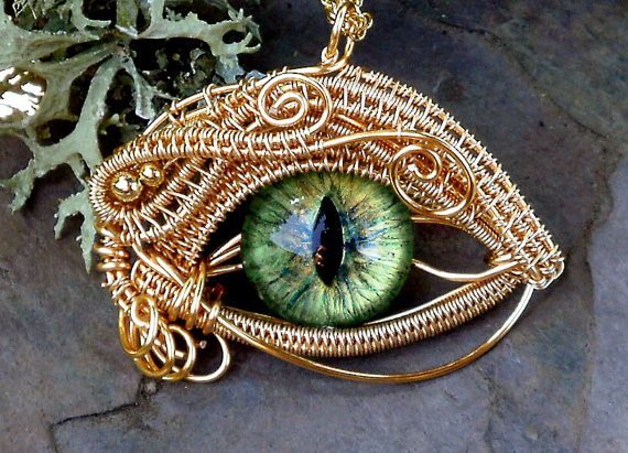 Woven Wire Evil Eye Jewelry by Twisted Sister Arts The Beading