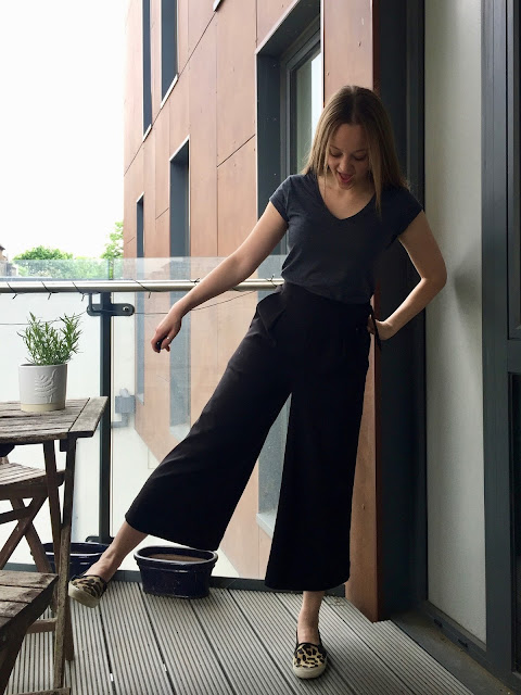 Diary of a Chain Stitcher: Black Stretch Gaberdine Flint Pants from Megan Nielsen